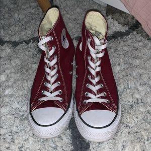 High Top Maroon Converse